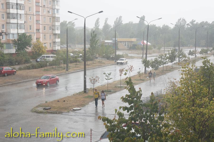 Внезапный ливень в Запорожье