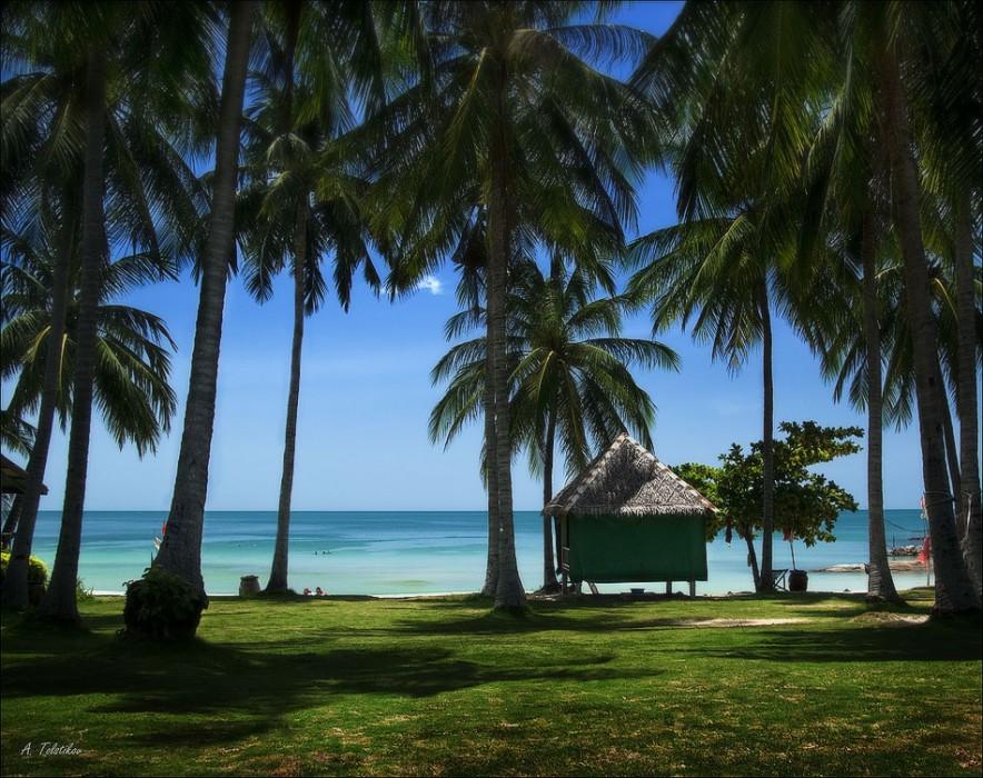 Пляж Чавенг на острове Самуи - домик у моря