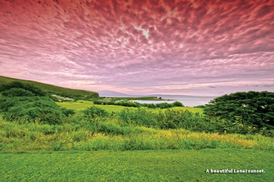 Фантастический закат на острове Ланаи