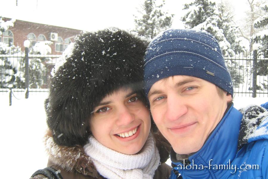 Первый снег в Запорожье в 2012 году