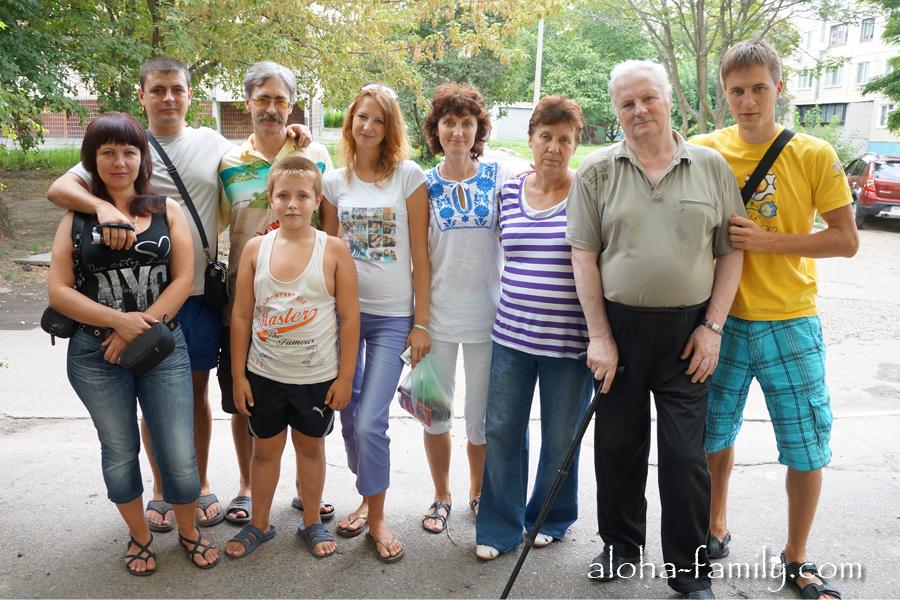 Приехали в Никополь навестить родственников
