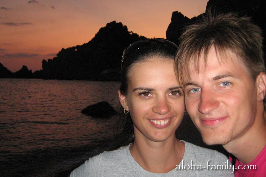 Провожаем закат в Симеизе - медовый месяц