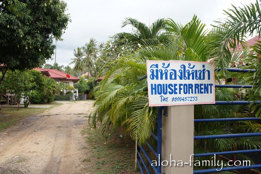 Похожие таблички висят по всему острову - то дом сдается, то вилла, то автомобили или байки...