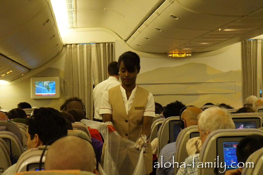 Стюардесса по имени Rihanna обслуживает наш самолёт! :)) Реально похожая девушка!