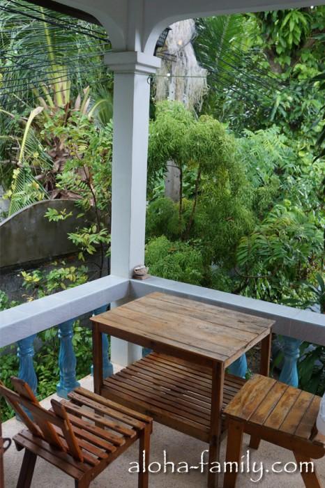 """Наш дом на Самуи: веранда и по совместительству мой новый """"офис"""" :)"""