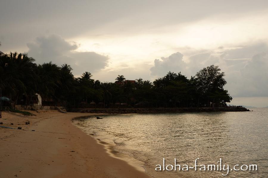 Солнце ушло за верхушки пальм - самая западная точка Банг По