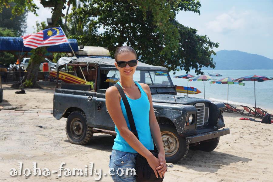 Андаманское море, джип, украинская красавица и флаг Малайзии... =)