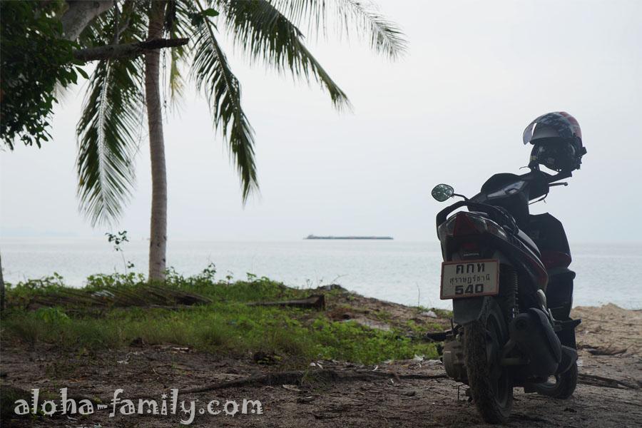 Наш байк остался наслаждаться красотой бухты Тонг Янг, пока мы решили прогуляться к южной части пляжа