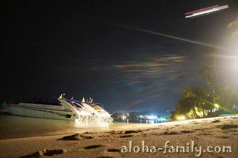Ночь накануне Рождества, яхта и улетающий с Самуи самолёт - 6 января 2013