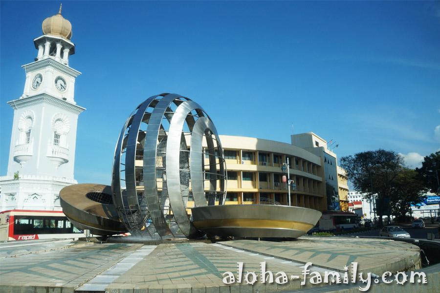 Queen Victoria Memorial Clock Tower, остров Пинанг - 12 января 2013