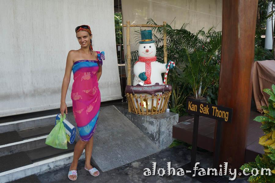 Милый снеговик в отеле Melati - конец декабря 2012 - уже после конца света))