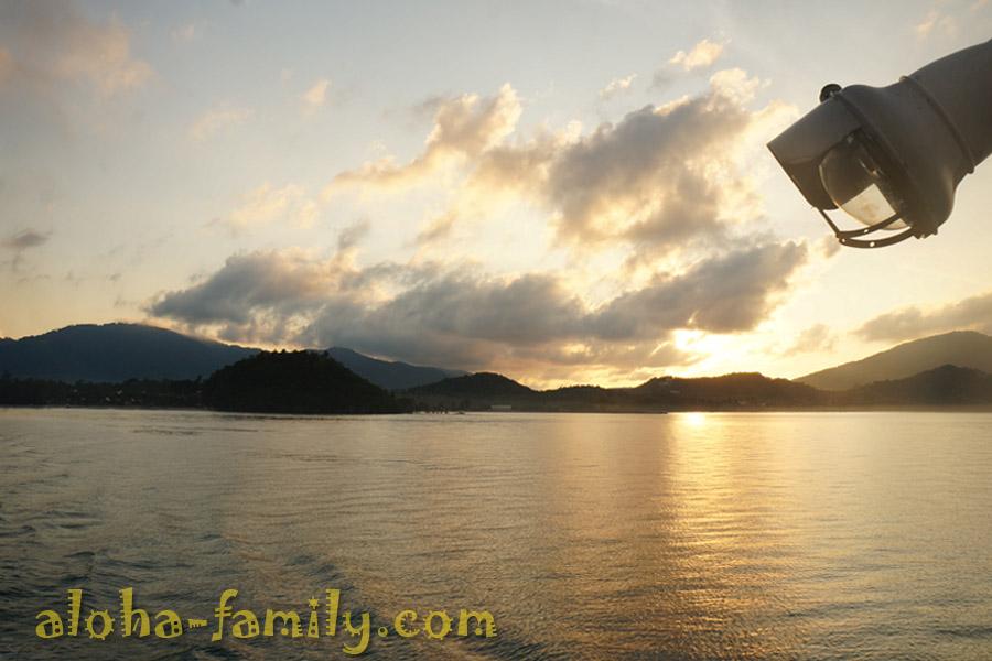 Январский рассвет 2013 - солнце встает над островом Самуи!