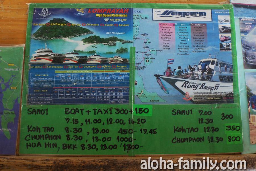 Расписание Songserm Speedboat