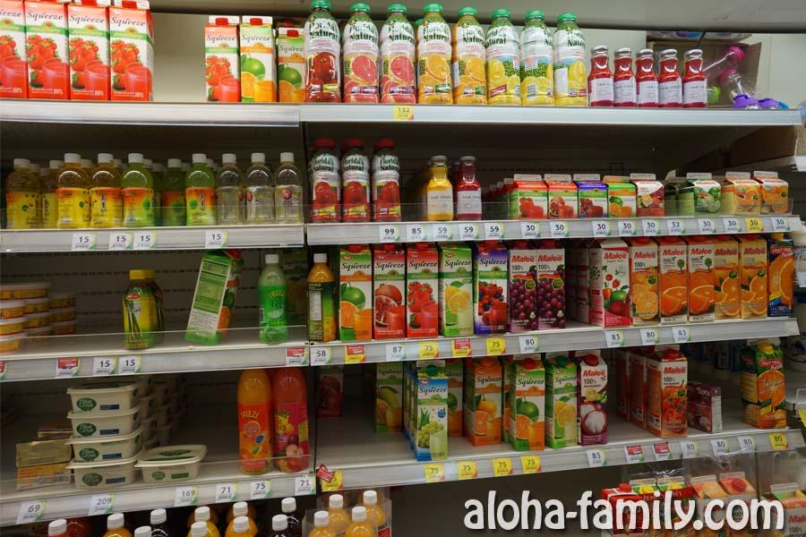 Соки в супермаркете на Самуи