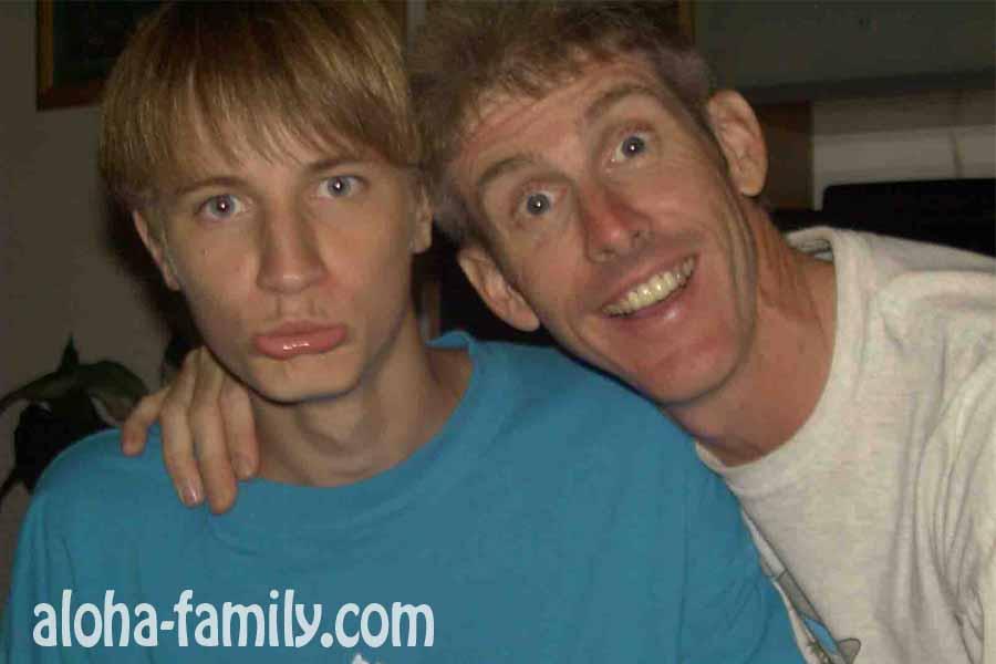 Я и моя принимающая семья в лице Дага :)))
