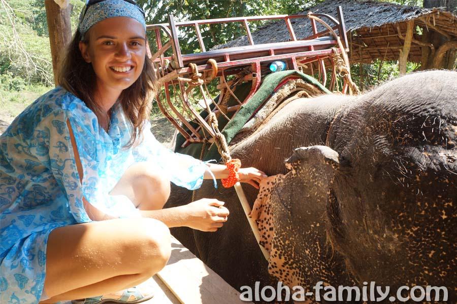 Мама попросила потрогать уши слона - вот, трогаем!))))