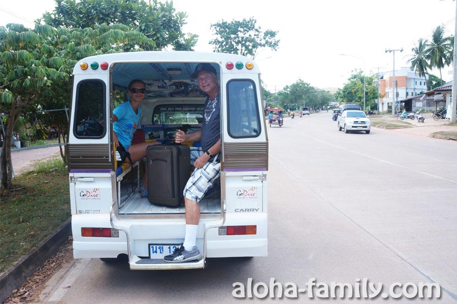 Первая поездка на сонгтео - тайском такси - на Ко Ланте