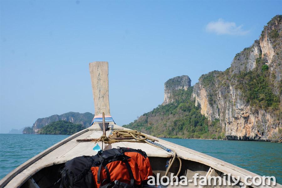 За дальней горой (это и есть часть полуострова Рейли) находится Ао Нанг