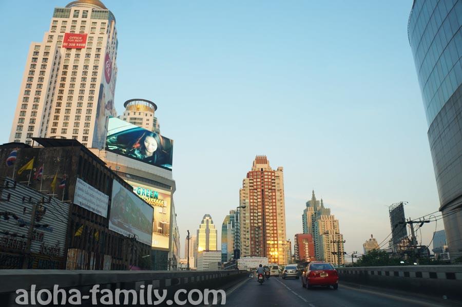 Дорога в аэропорт - новый центр Бангкока