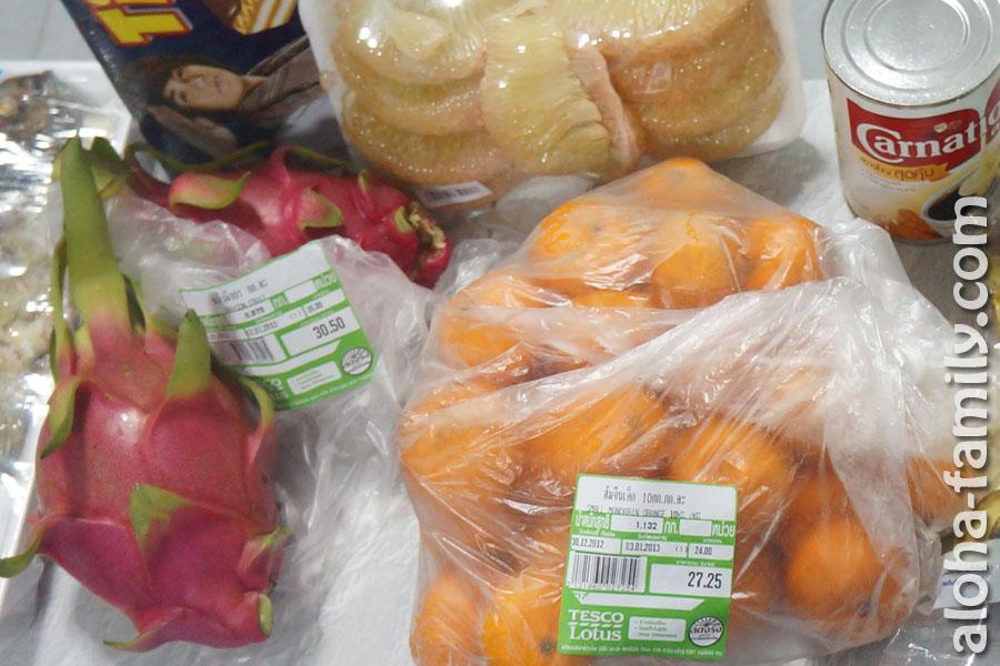 Дракон-фрукт из тайского супермаркета за 35 бат/кило или 4 гривны за штуку - почувствуй разницу!
