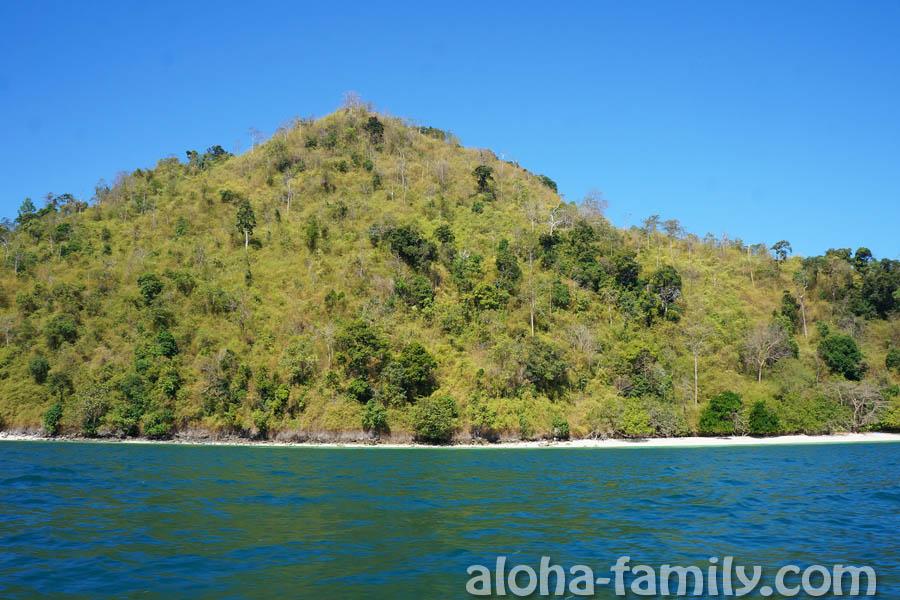 Красивые леса острова Чиккен в провинции Краби
