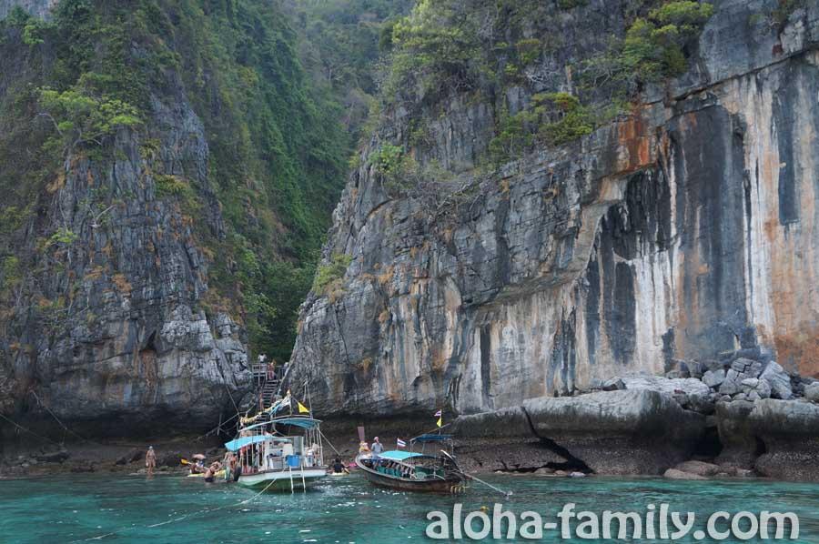 Loh Samah Bay - дальше на Maya Bay идём по ступенькам - из-за отлива