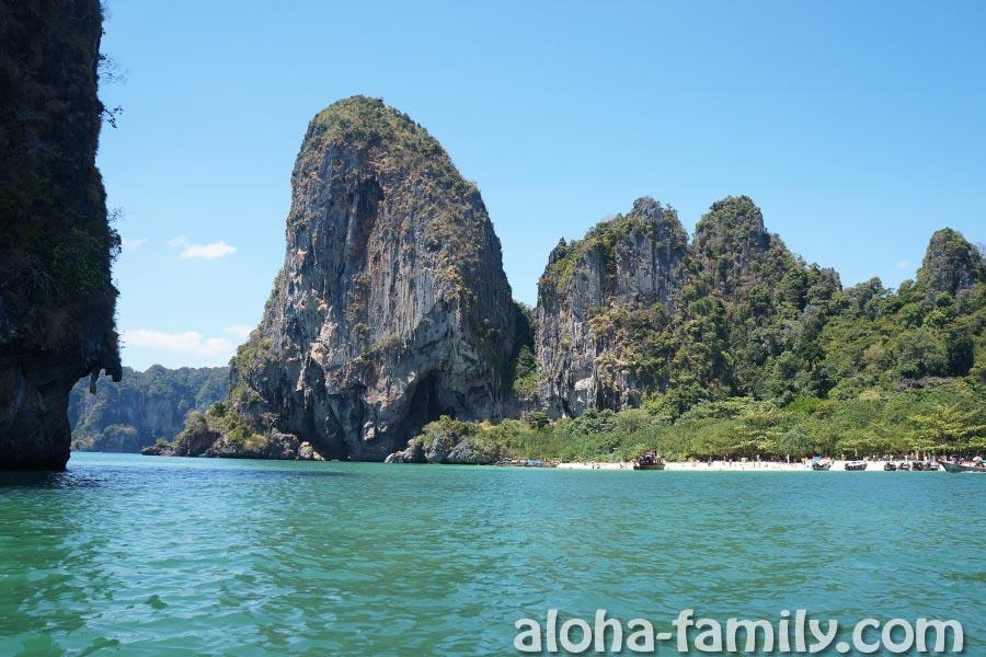 Пляж Phra nang на Рейли со стороны моря
