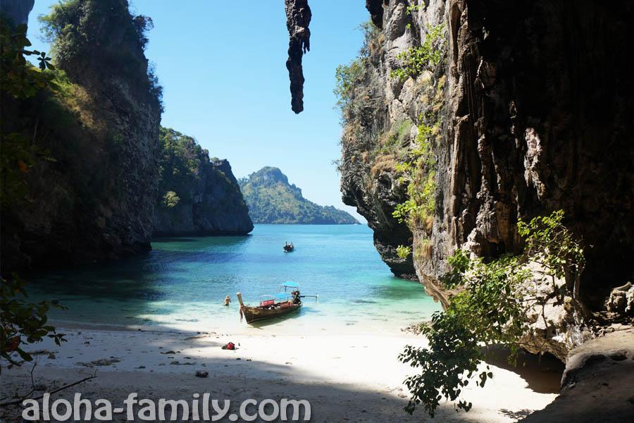 Остров Пода - неразрекламированный пляж с обратной стороны острова