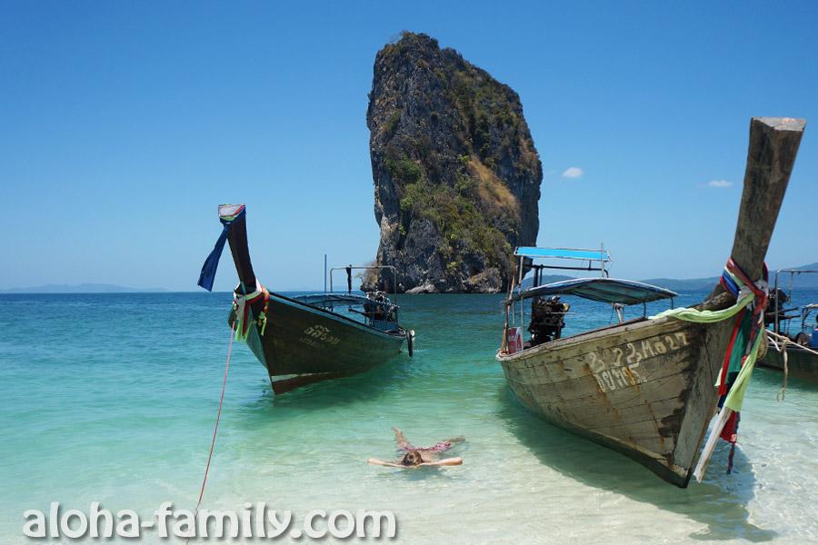 """""""Визитная карточка"""" острова Пода - красивая скала в море рядом с островом Пода. Теперь и у нас есть такие """"открытки"""")))"""