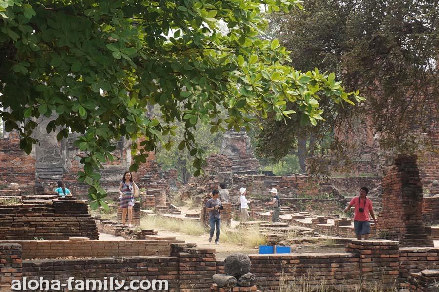 Китайские туристы не сильно обращают внимание на просьбы не ходить по развалинам