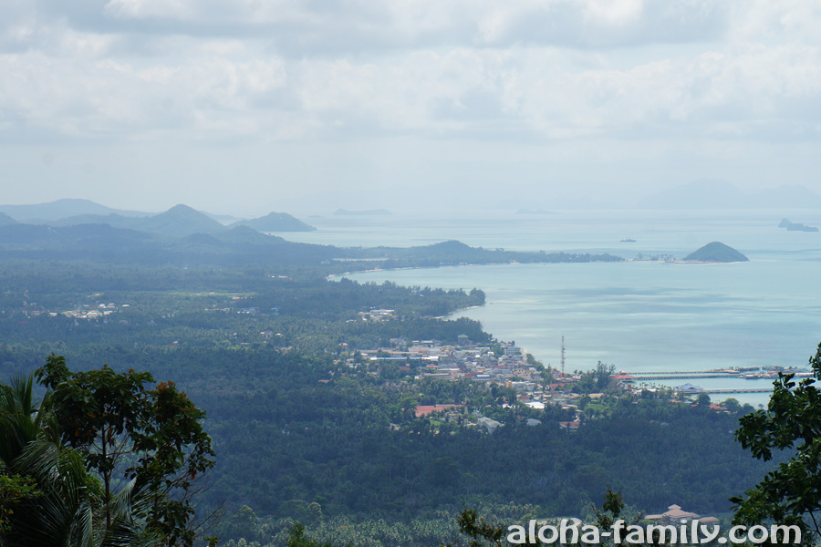 Береговые линии Nathon, Tong Yang, Talling Nam с высоты обзорной площадки