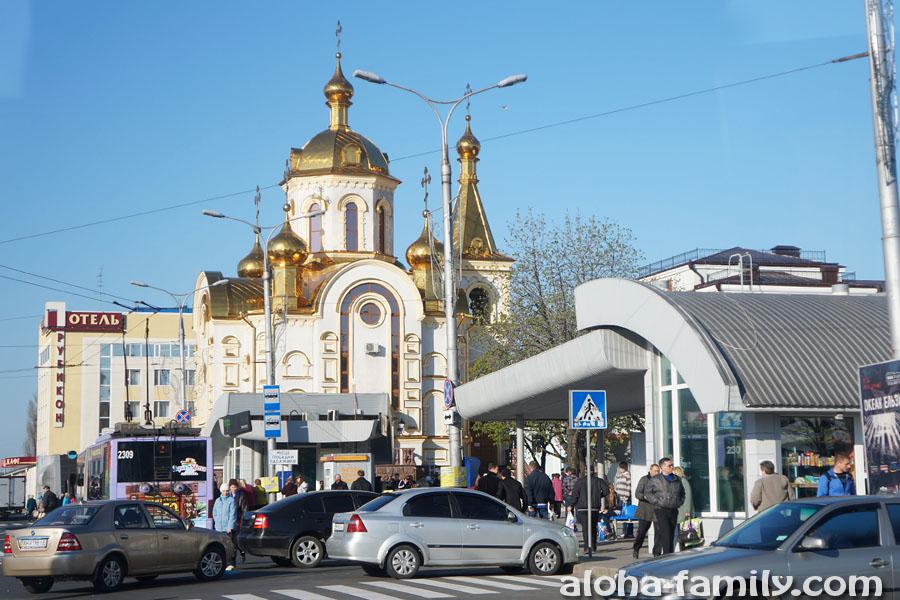 Церковь с кондиционером возле вокзала в Донецке
