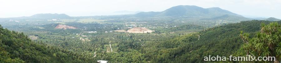 Панорама острова Самуи со смотровой площадки Сук Валан