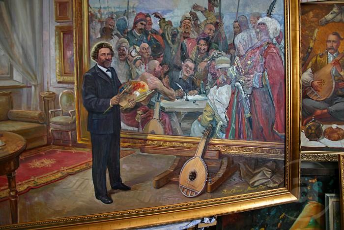"""Репин пишет картину """"Запорожцы""""... Ну, вы в курсе про письмо турецкому султану, да!? =)"""