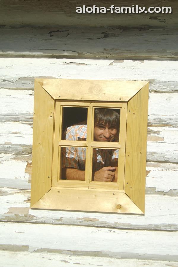 Традиционные деревянные окна казаков (не то что современные - пластиковые)))