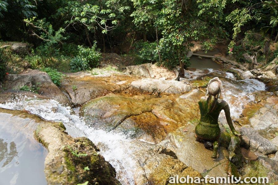 Вид с верхней точки водопада Khowyai вниз