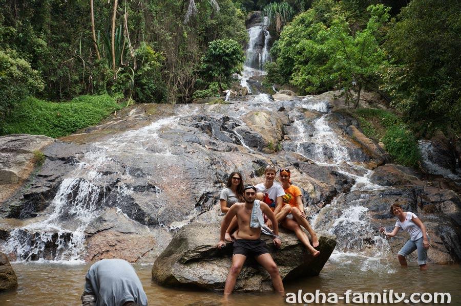 Водопад Na Muang 2 в феврале