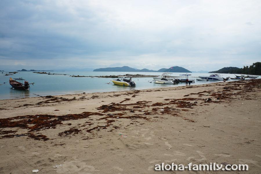Один из южных пляжей Самуи - здесь мусор не убирали с начала времён...