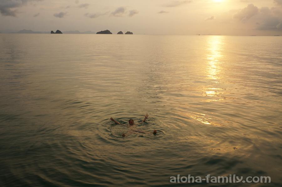 Taling Ngam, прыжки с пирса и вид на 5 островов
