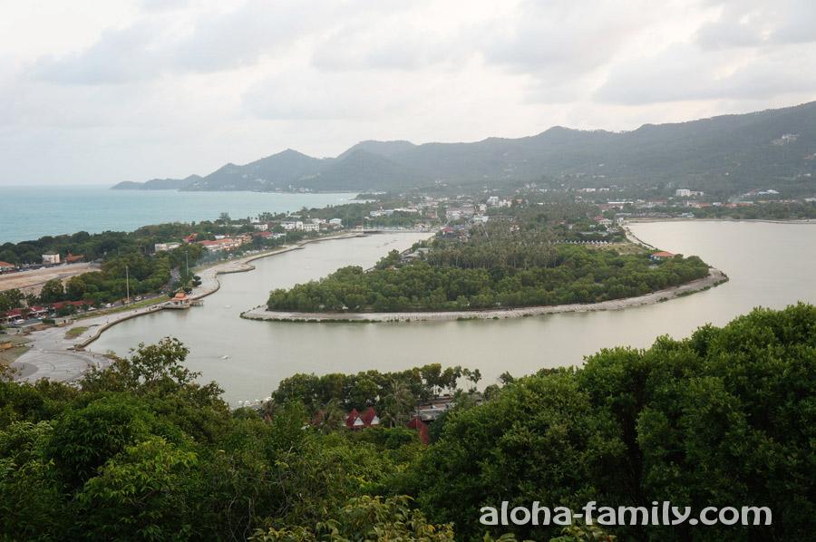 Вид на озеро Чавенг и окрестности со смотровой площадки
