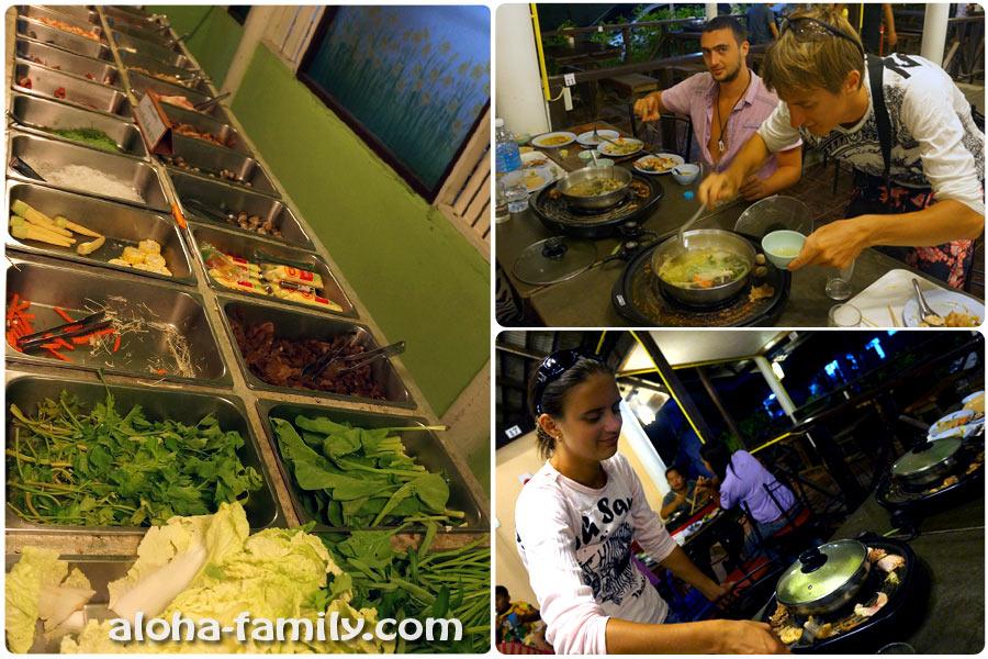 Буфет в Краби Таун (ужин от пуза за 159 бат или $5)
