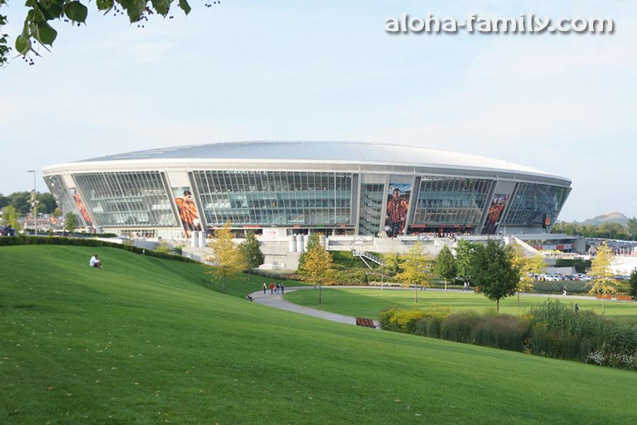 Донбасс Арена, парк и терриконы