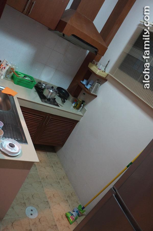 На кухне тоже ничего страшного - мойка, холодильник, газовая поверхность, вытяжка, полочки, ящички... Вон швабру новую купили и блендер сегодня))