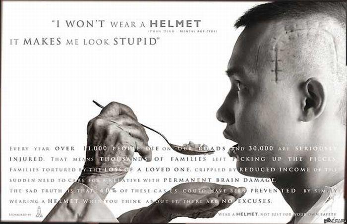 """""""Надевайте шлем"""" (социальная реклама, грустная до слёз)"""