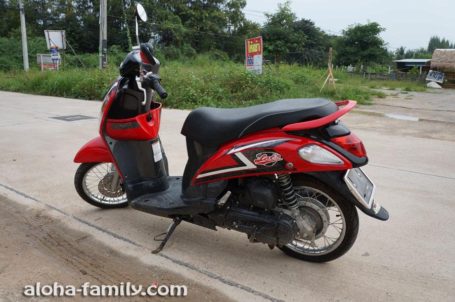 Почти новый Suzuki Let's 2013 года с пробегом 1,100 км (очень хорошая цена - 30,000 бат)