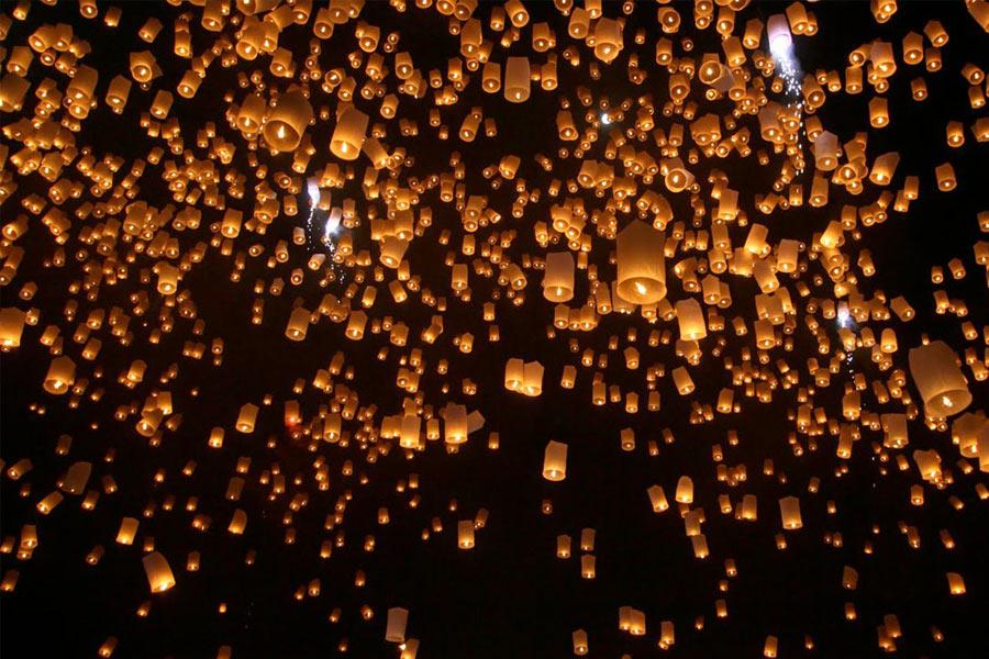 Лой Кратонг в Чианг Май отличается особой красотой