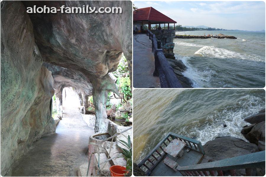 Но, пройдя сквозь пещеры и храмы, мы увидели неспокойное море