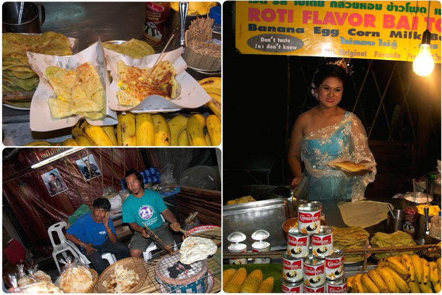 """Традиционные блинчики """"роти"""", тайские шашлычки, попкорн... всё чего душа пожелает))"""