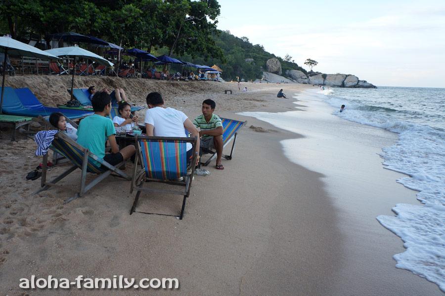 Тайские туристы расслабляются