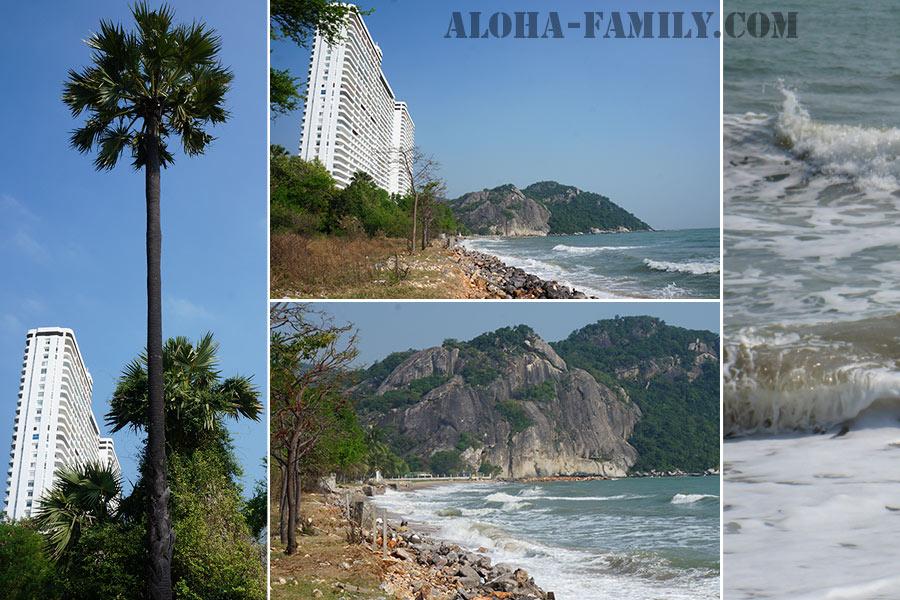 Местность рядом с Pran Kiri Beach около Пранбури
